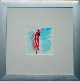 Vrouw accent blauw rood 2